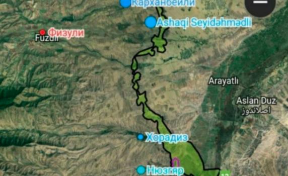 Ordumuzun azad etdiyi ərazilər - XƏRİTƏ