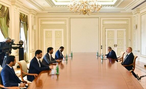 Prezident İlham Əliyev Birləşmiş Ərəb Əmirliklərinin iqtisadiyyat nazirini qəbul edib