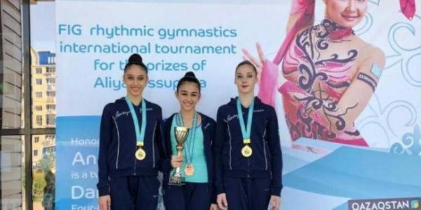 Gənc gimnastımız Qazaxıstanda medal qazanıb