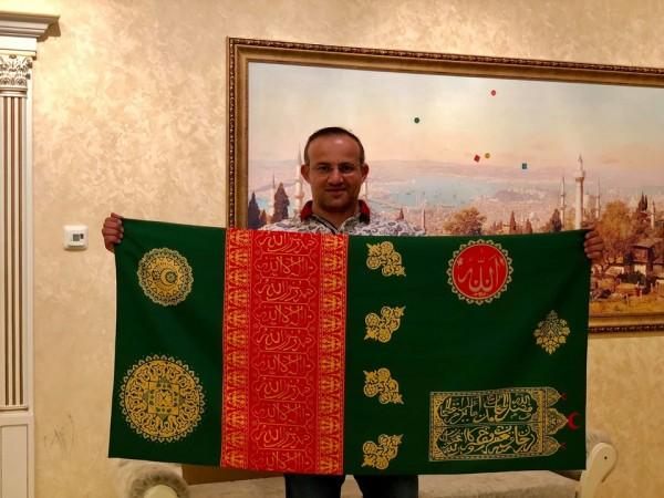 Qədim Gəncə xanlığının tarixi bayrağı ölkəyə gətirildi