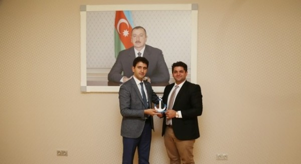Naqif Həmzəyev Kipr-Azərbaycan Diaspora Mərkəzinin həmsədri ilə görüşüb