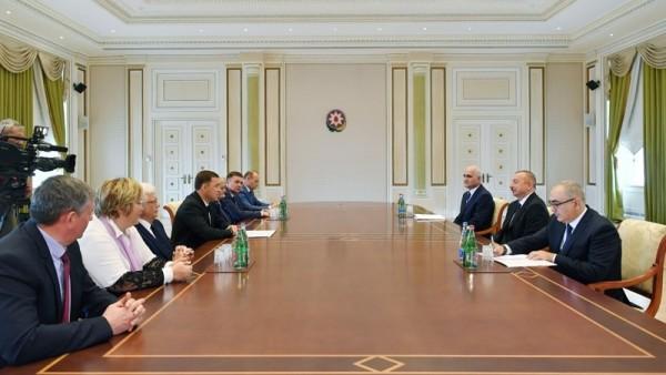 İlham Əliyev rusiyalı qubernatoru qəbul edib