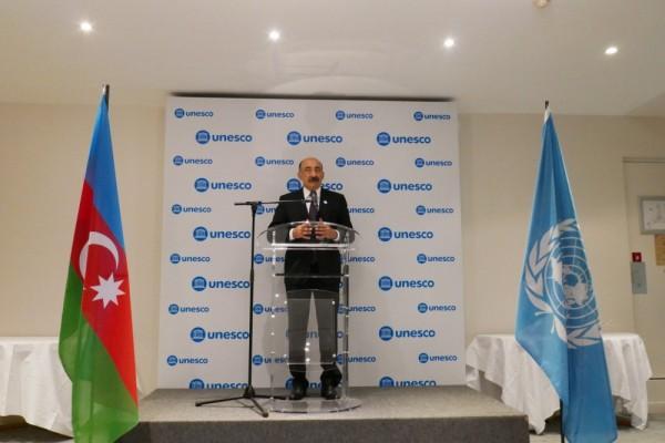 Parisdə UNESCO üzrə Azərbaycan Respublikasının Milli Komissiyasının yaradılmasının 25 illiyi təntənəli şəkildə qeyd olunub