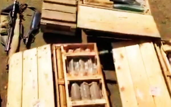 Düşmənə məxsus xeyli silah-sursat ələ keçirildi - Video