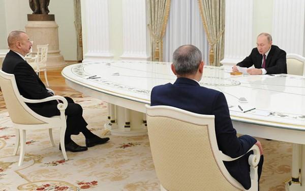 İlham Əliyev, Putin və Paşinyan bəyanat imzaladı - Foto
