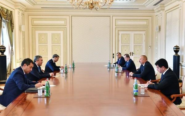 Prezident İlham Əliyev Qazaxıstanın Baş nazirinin müavinini qəbul edib