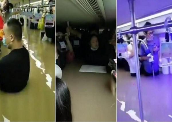 Çində metronu su basdı - ölənlər var