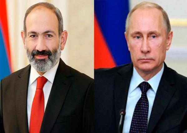 Putin və Paşinyan arasında telefon danışığı olub