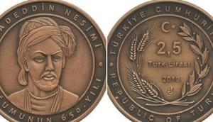 İmadəddin Nəsiminin 650 illiyinə həsr olunmuş sikkə buraxıldı